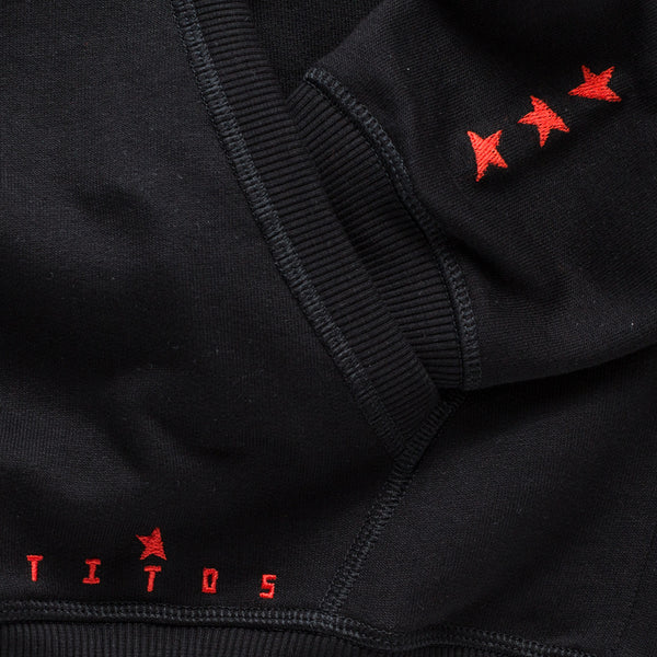 Fifth hoodie black/black TITOS star logo