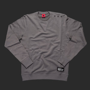 11th TITOS crewneck pwtr/blk small 3 star logo