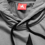 9th TITOS hoodie pewter/black with large star logo