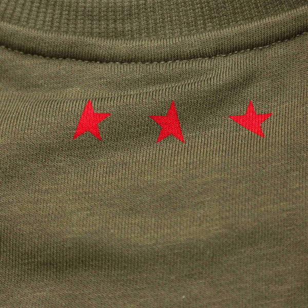 14th women's TITOS crewneck olive/red large star logo