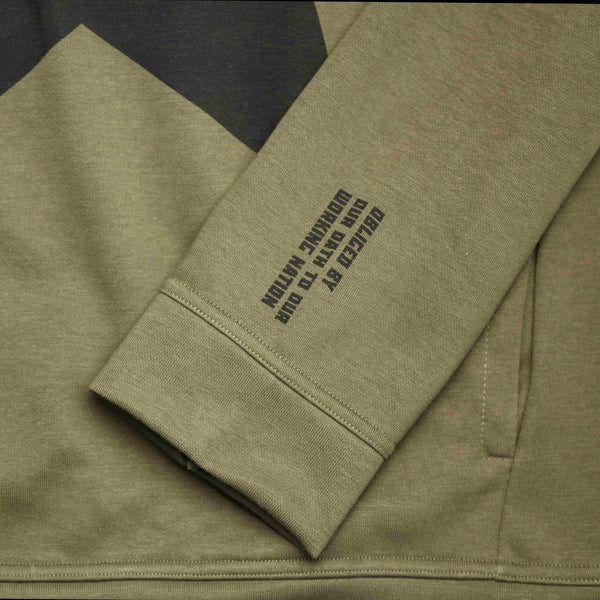9th TITOS hoodie olive/black with large star logo