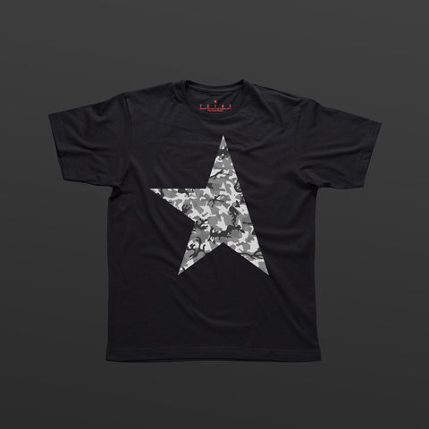 First T-shirt black/camo grey TITOS star logo