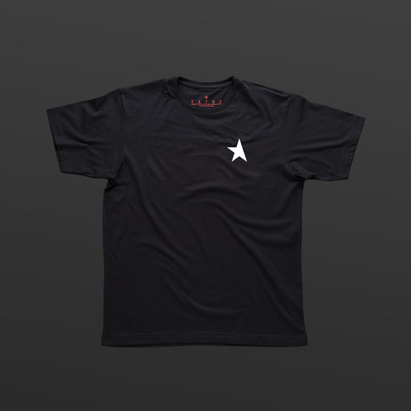 TITOS 17th t-shirt black/white small star logo