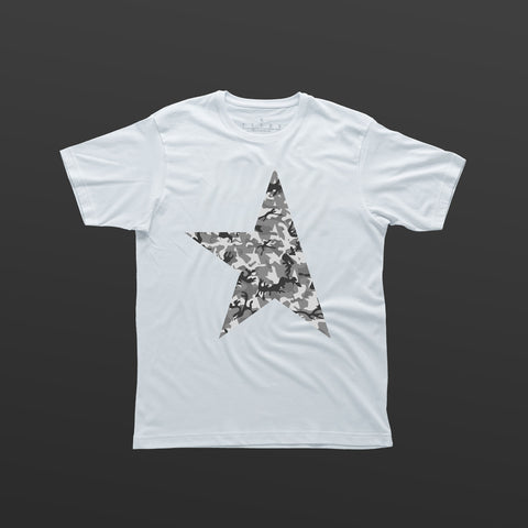 First T-shirt white/camo grey TITOS star logo