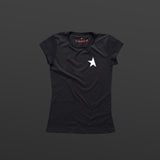 8th women's TITOS t-shirt black/white small star logo