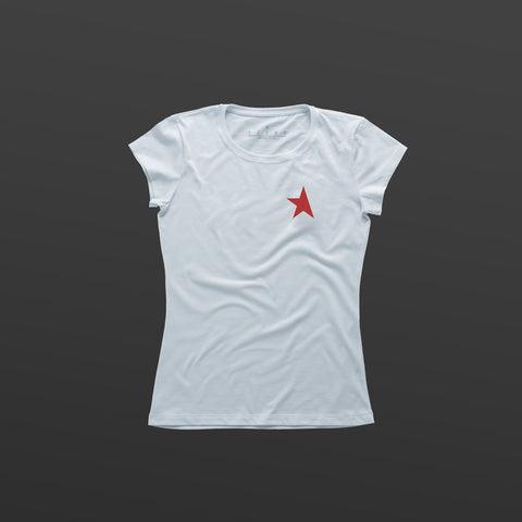 8th women's TITOS t-shirt white/red small star logo