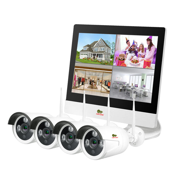 1.0MP Набор для улицы LCD Wi-Fi IP-25<br>4xCAM + 1xNVR