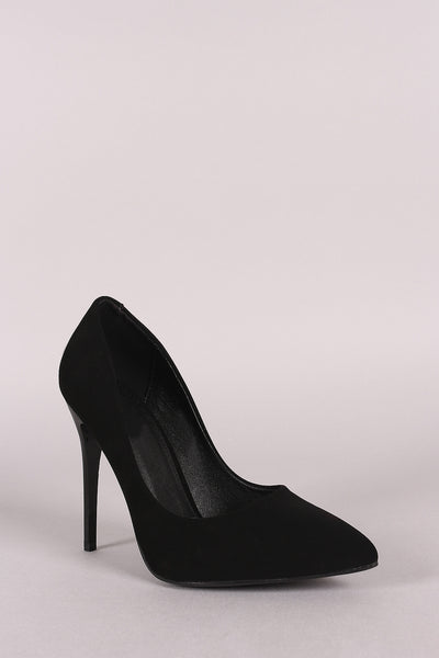 Nubuck Pointy Toe Stiletto Pump-Shoes, Heels, Pumps-Topaze Fashion