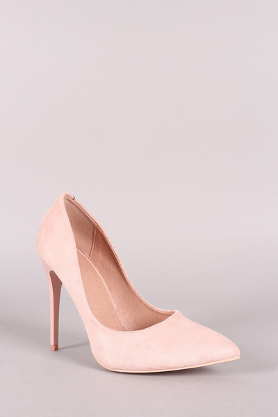Suede Pointy Toe Stiletto Pump-Shoes, Heels, Pumps-Topaze Fashion