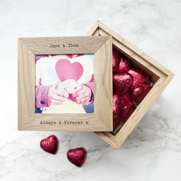 Oak Personalised Keepsake Chocolate Box