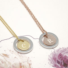 'You Are My World' Personalised Necklace - Rose Gold & Silver or Gold & Silver - Luxe Gift Store