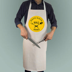 Men's BBQ King Personalised Apron - Luxe Gift Store