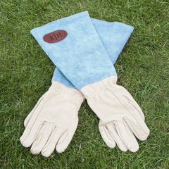 Women's Leather Gardening Gloves - Pink, Blue or Brown - Luxe Gift Store - 2
