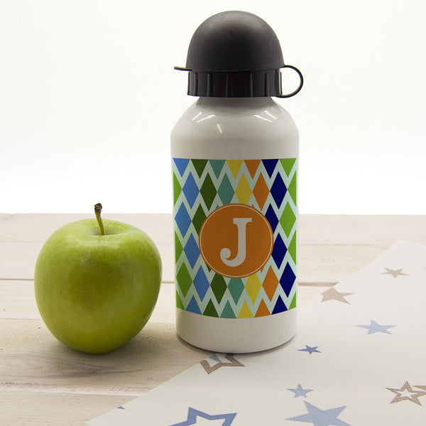 Boy's Stain Glass Window Personalised Water Bottle