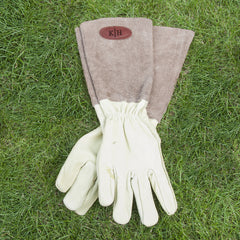 Men's Personalised Leather Gardening Gloves - Brown or Blue - Luxe Gift Store