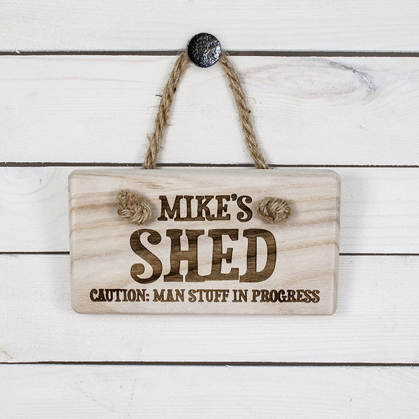 Men's Personalised Shed Wooden Sign