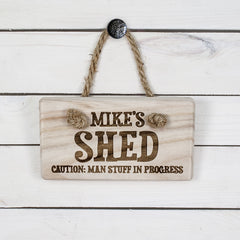 Men's Personalised Shed Wooden Sign - Luxe Gift Store
