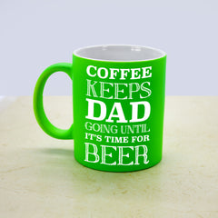 Dad's 'Coffee & Beer Loving' Multi coloured Mug - Luxe Gift Store