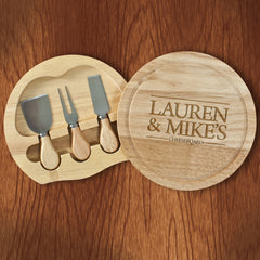 Couple's Personalised Cheese Board - Luxe Gift Store