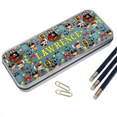 Kid's Cute Pirate Personalised Pencil Case - Luxe Gift Store - 2