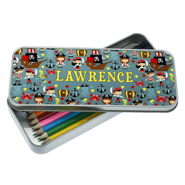 Kid's Cute Pirate Personalised Pencil Case