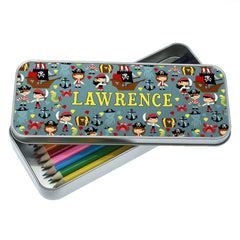 Kid's Cute Pirate Personalised Pencil Case - Luxe Gift Store - 1