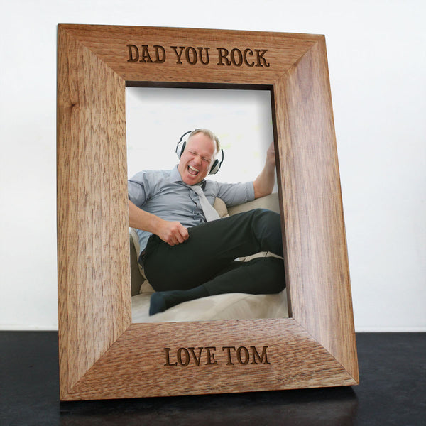 Dad's 'You Rock' Personalised Photo Frame