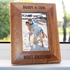 Daddy 'My Best Friend' Personalised Photo Frame - Luxe Gift Store