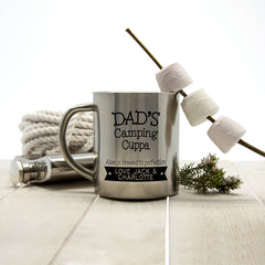 Dad's Cuppa... Brewed To Perfection' Personalised Outdoor Mug - Luxe Gift Store