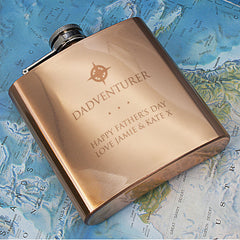 Dadventurer Personalised Hip Flask - Luxe Gift Store