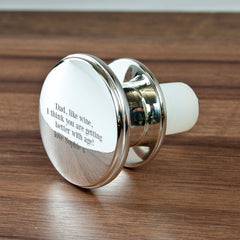 Gold Plated Personalised Bottle Stopper - Luxe Gift Store