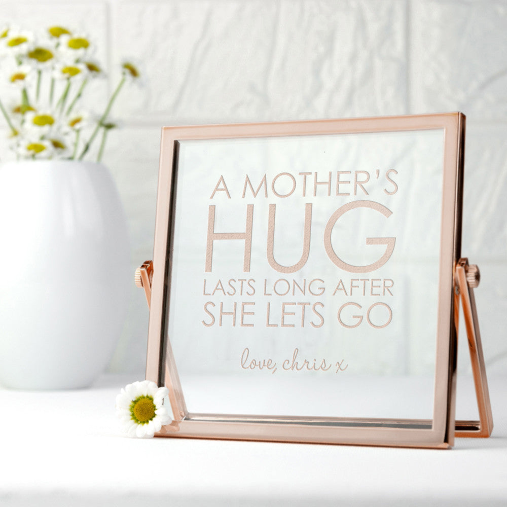 Rose Gold Frame Engraved \'Mother\'s Hug\' – Luxe Gift Store