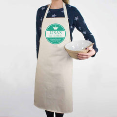 'Everything Stirred with Love' Personalised Apron - Pink, Blue or Green - Luxe Gift Store