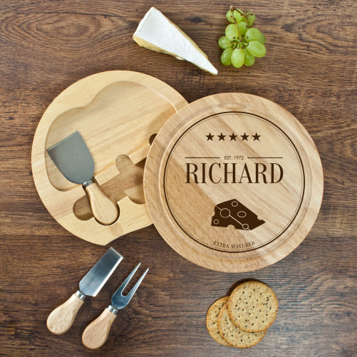 Extra Mature Personalised Cheese Board Set