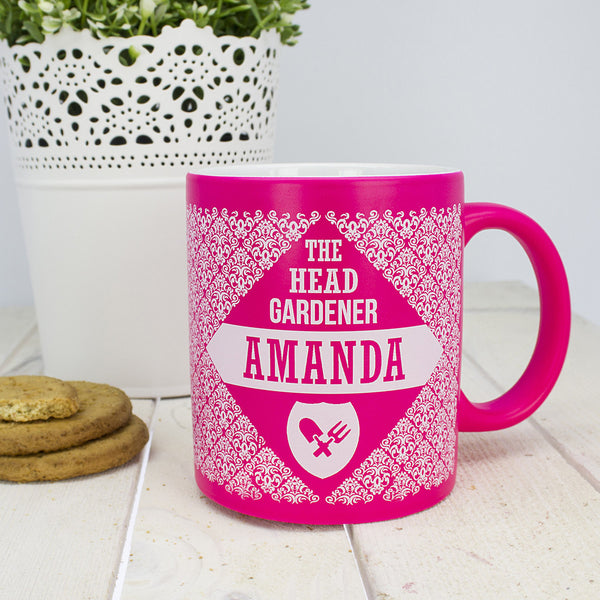 Floral Head Gardener Personalised Multicoloured Ceramic Mug
