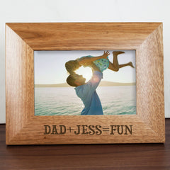 Dad's 'Fun with Dad' Personalised Photo Frame - Luxe Gift Store