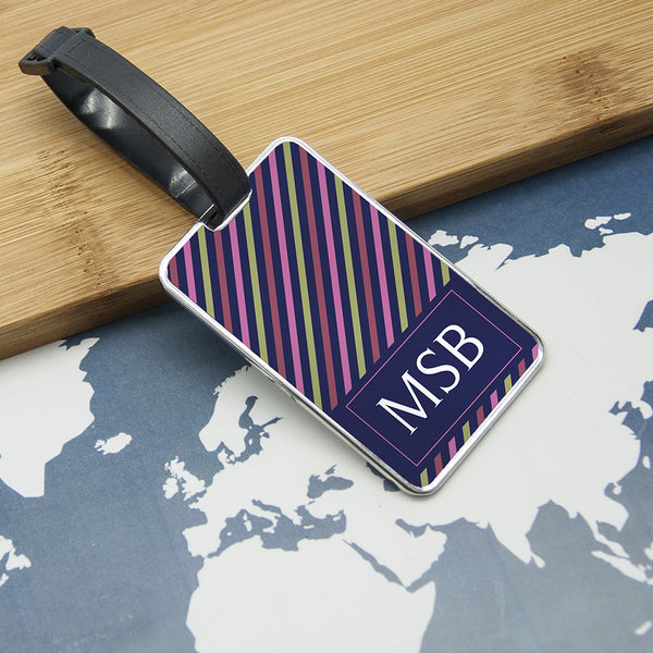 Monogrammed Personalised Luggage Tag