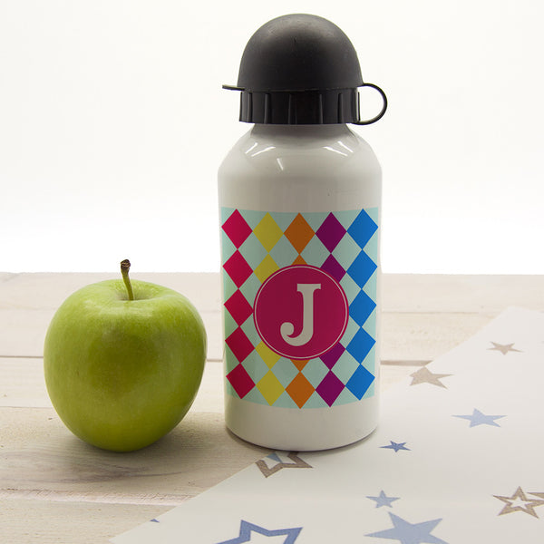 Girl's Mosaic Tiled Personalised Water Bottle