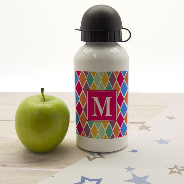 Girl's Stain Glass Window Personalised Water Bottle