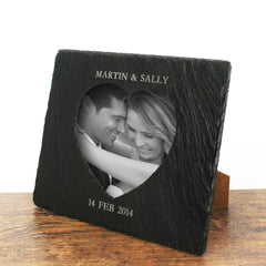 Heart Slate Personalised Photo frame - Luxe Gift Store