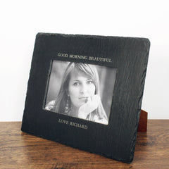 Slate Landscape Personalised Photo frame - Luxe Gift Store