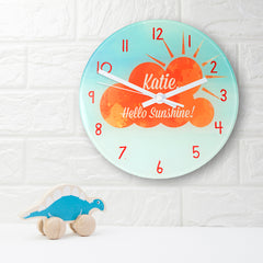 Hello Sunshine Personalised Wall Clock - Luxe Gift Store