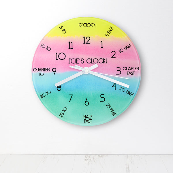 I Can Tell The Time! Personalised Wall Clock