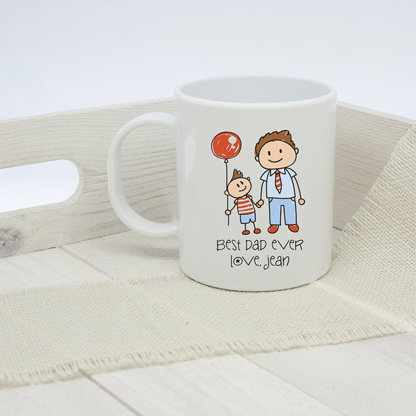 Dad's 'I Love My Dad' Personalised Kid's Artwork Unbreakable Mug