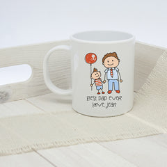 Dad's 'I Love My Dad' Personalised Kid's Artwork Unbreakable Mug - Luxe Gift Store