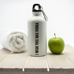 Gym Waterbottle Personalised 'I Wish This Was Vodka' - Luxe Gift Store