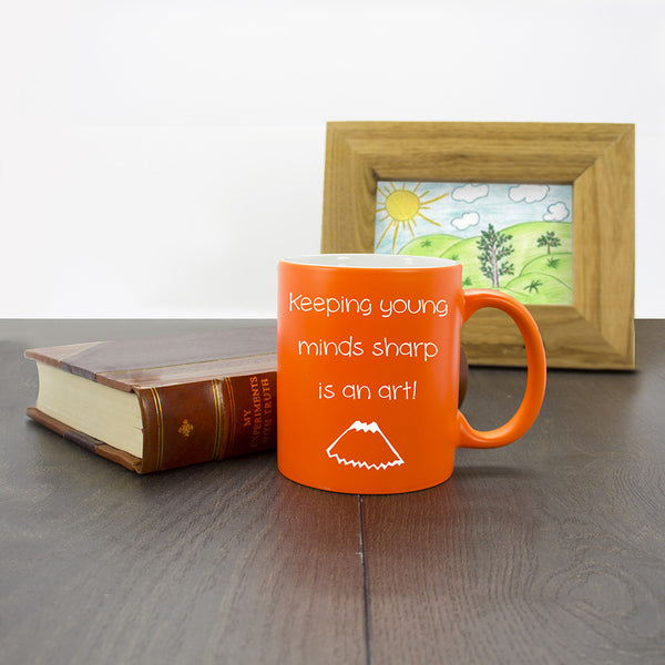 Teacher's Personalised Matte Mug - Multicoloured