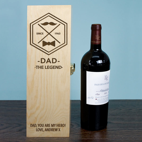Dad's 'Legend' Personalised Wine Box