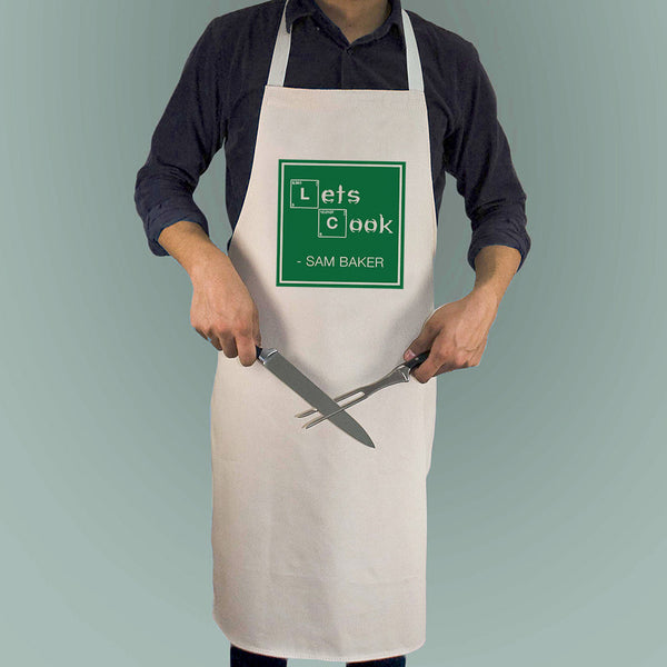 'Let's Cook' Personalised Apron
