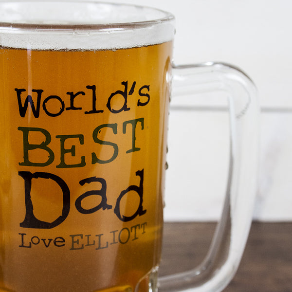 Dad's 'Love From' Personalised Beer Glass Tankard